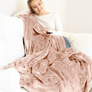 blanket with model