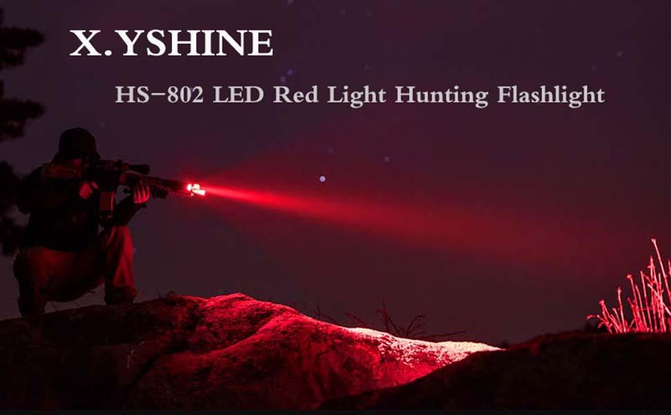LED red light hunting flashlight
