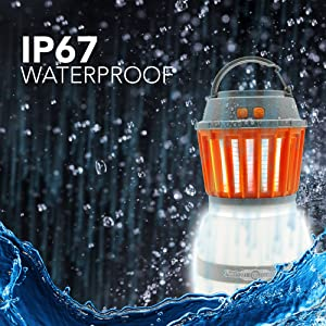 using the waterproof zapper outside in the rain