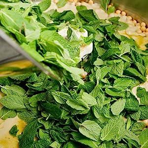 mint-leaves-hummus