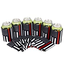 firefighter,fire fighter,coozie,koozie,can,cooler,sleeve,firefighter flag,coolie,flag with red line,