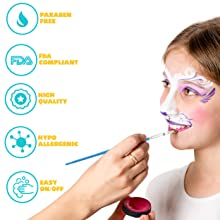 Face organic face paints