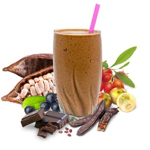 Choc Smoothie in Glass
