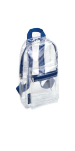 clear backpack stadium approved for teachers professional airports retail workers transparent bags