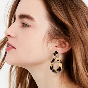 tortoise shell acrylic earrings