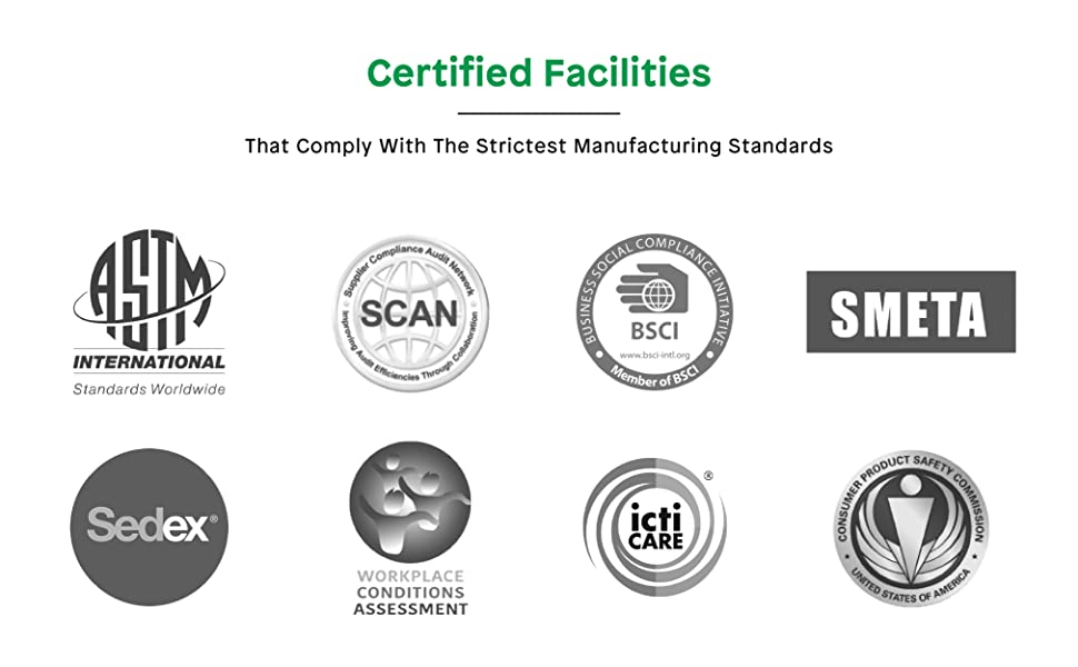Boley only uses certified manufacturing facilities that comply with the strictest standards