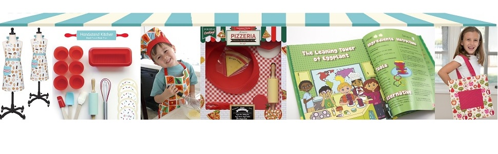 Handstand Kitchen Real Cooking Baking Tools Accessories Aprons Sets Gifts for Kids Children Child