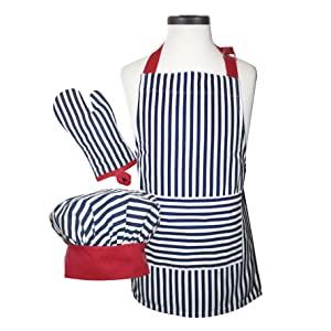 Handstand Kitchen Apron Oven Mitt Chef Hat Set Real Cooking Baking Tools Kids Children Child