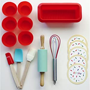 Handstand Kitchen Introduction 17 Piece Gift Set Real Cooking Baking Tools Kids Children Child