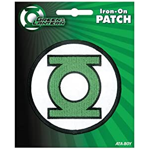 "Ata-Boy DC Comics Green Lantern Logo 3"" Full Color Iron-On Patch"