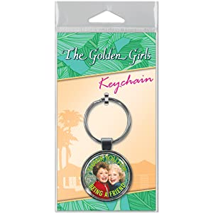 """Ata-Boy Golden Girls 1.5"""" Fob Keychain for Keys, Backpack Pulls and More"""