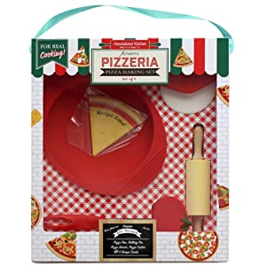 Handstand Kitchen Authentic Pizzeria Gift Real Cooking Baking Tools Kids Children Child Boys