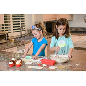 Fun baking with the Handstand Kitchen Introduction to Baking Set and Unicorn Aprons