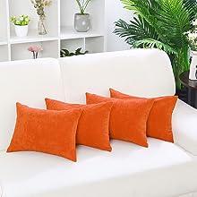 Orange Throw Pillowcase