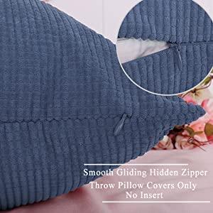 zipper throw pillowcase