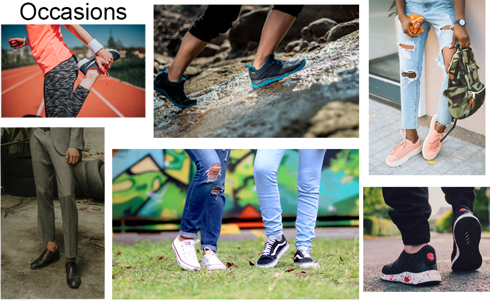 occassions: daily wear, sports, business, fashion