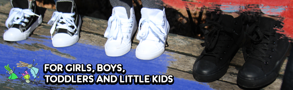 sneakers, black, white, high top, girsl, boys, toddlers, unisex, kids, everyday shoes, canvas