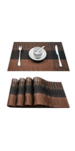 brown place mat