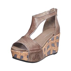 chocolat blu, chocolat blu shoes, leather sandal women, leather wedge sandal women, mules women shoe
