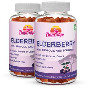 Elderberry gummies bottles