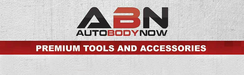 ABN Auto Body Now, premium tools and accessories logo banner