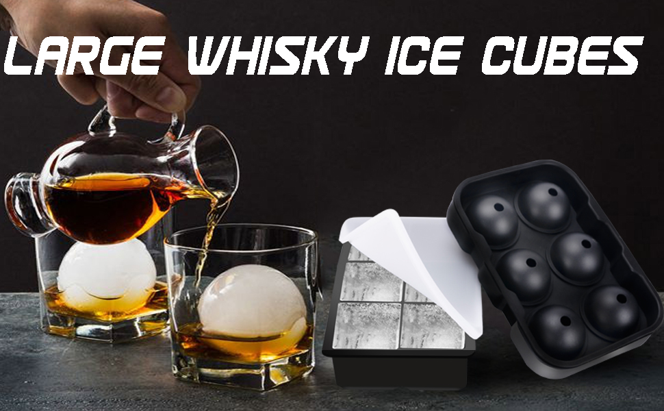 The cubes keep drinks chilled for hours and hours