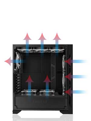 Maingear Chassis Cooling Flow