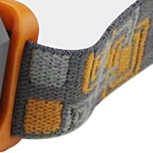 headband adjusts comfortably to your head and is removable and washable.
