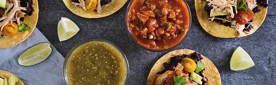 salsa and taco seasoning