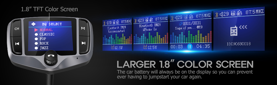 KM29 Bluetooth FM Transmitter