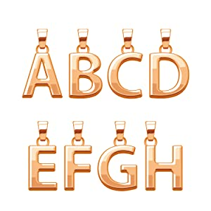 Rose Gold Loose Alphabet Letter Beads