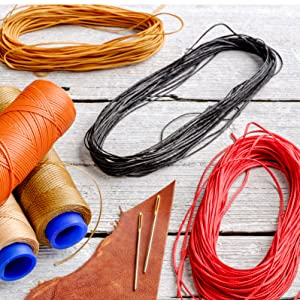 Flat Waxed Cord for Leather Stitching sewing crafting jewelry making upholstery