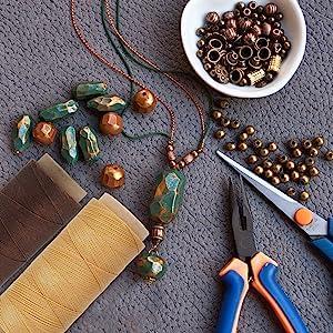 Flat Waxed Cord for Mala Necklace Bracelet Friendship Braiding Macrame Jewelry Making