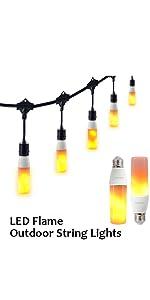 Flame String light