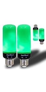 Green Flame Bulb