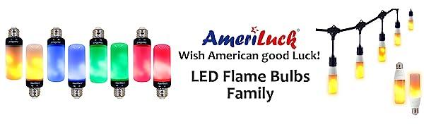 led flame bulbs family