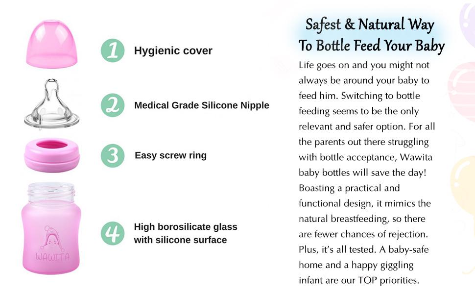 anti colic baby bottles 8 oz 4 bottle holder hands free feeding newborn breast milk in soft nipple