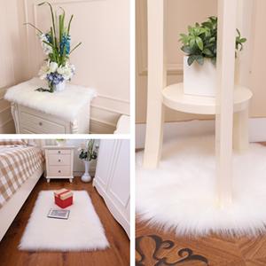 white faux rug