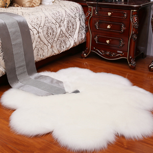 flower fur rug
