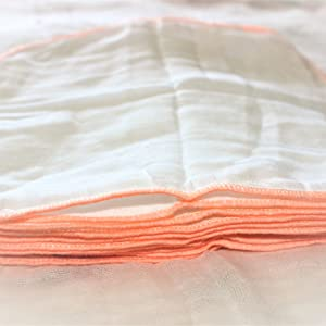 Baby muslin washcloths