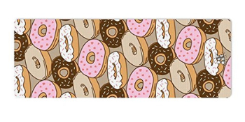 yoga mat, donuts, relaxing