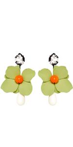 Oversized Floral Earrings