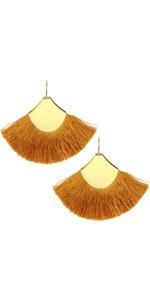 Colorful Bohemian Tassel Drop Statement Earrings