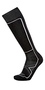 snow le bent ultra light winter socks skiing wool socks over the calf hiking winter wool merino sock