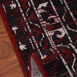 red black wonderful rug