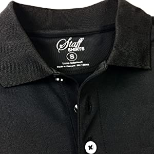 3 three button closure regular fit moisture wicking polo shirt