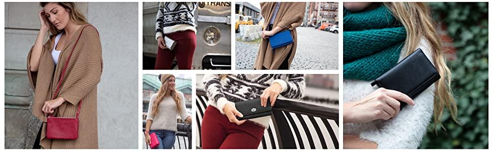 Womens cell phone purse crossbody phone purse cell phone wallet rfid crossbody bags for women