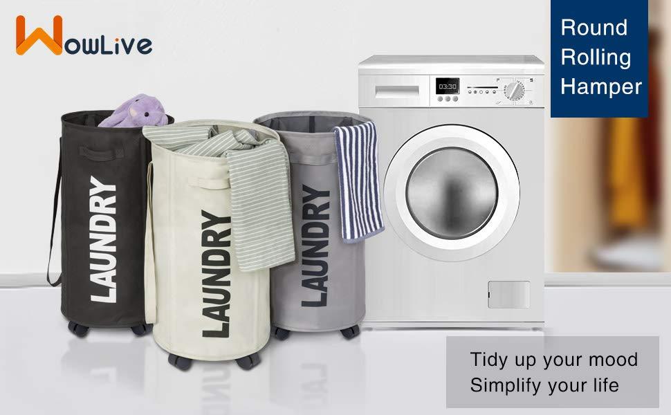 round laundry hamper