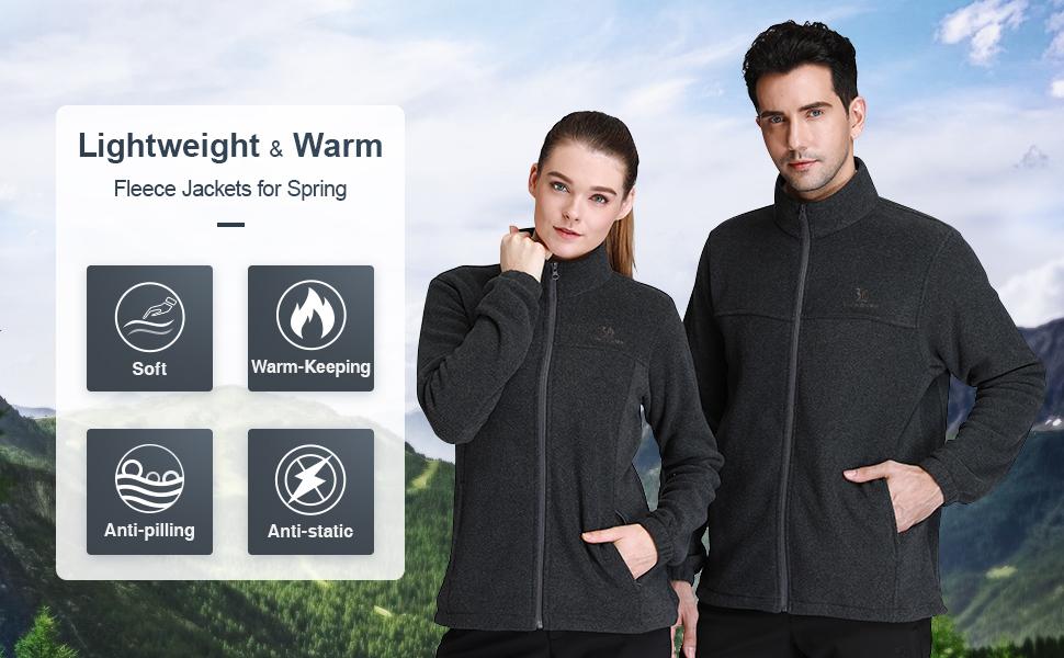 LIGHT fleece jacket