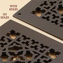 hole vs no hole